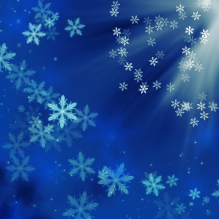 Beautiful blue winter background with snowflakes Stock Photo - 8265631