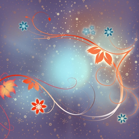 Abstract bright flower background photo