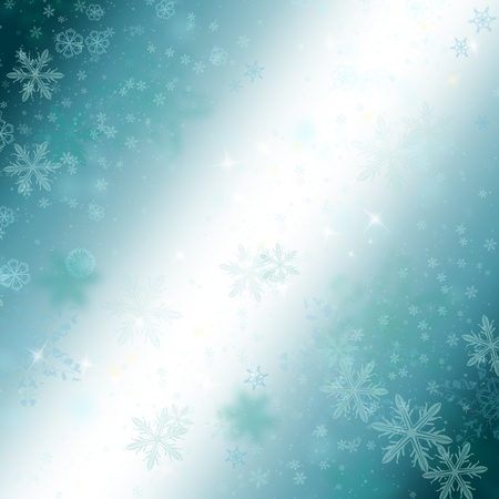 Beautiful blue winter/christmas background with snowflakes Stock Photo - 8280170