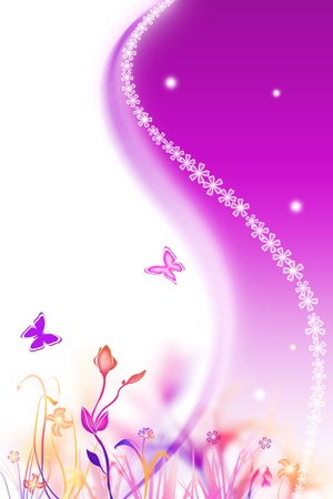 Beautiful spring purple background with flowers Stock Photo