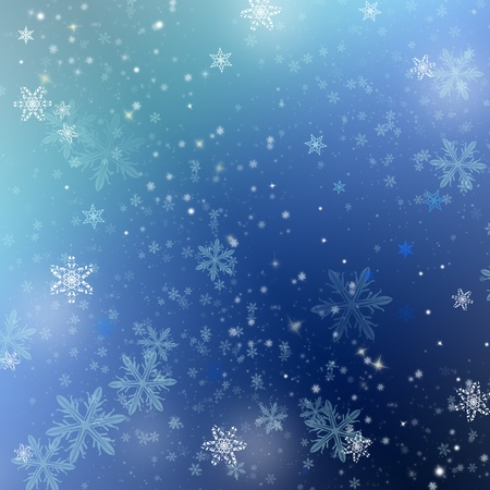 Beautiful golden winter background with snowflakes Stock Photo - 8360462