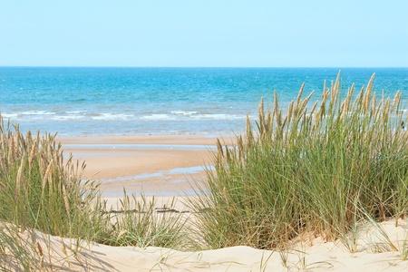 Zand strand van Formby in de buurt van Liverpool, de North West kust van Engeland