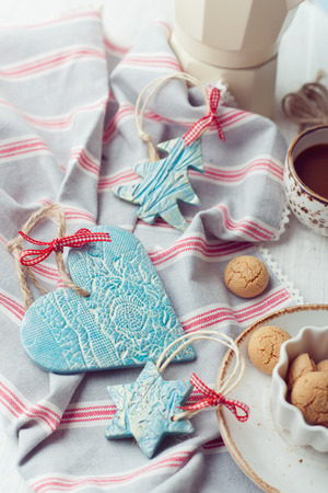 handmade ceramic christmas decorations set with italian biscuits stock photo picture and royalty free image image 40880852 - Ceramic Christmas Decorations