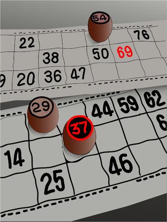 Ola fashioned bingo cards Illustration