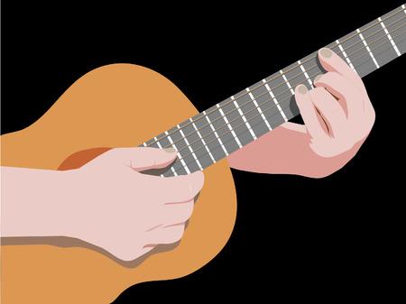 playing guitar Illustration