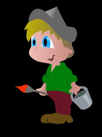 painter boy Illustration