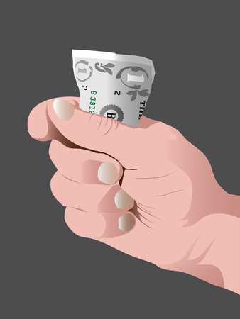 one dollar hand