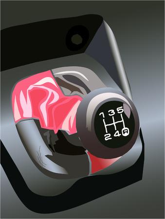 gearshift: sport car gearshift