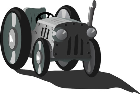 tarnished: tractor Illustration