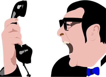 stressed businessman: anger