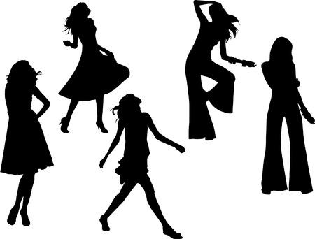 woman silhouettes Illustration