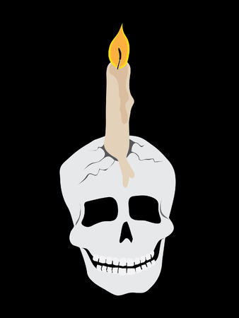 skull candle Vector