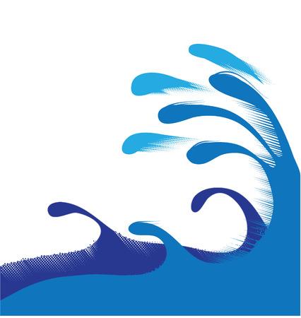 wave halftone Illustration