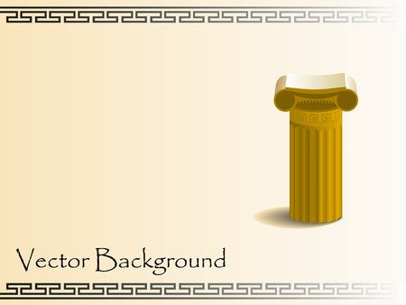 roman pillar: abstract background Illustration
