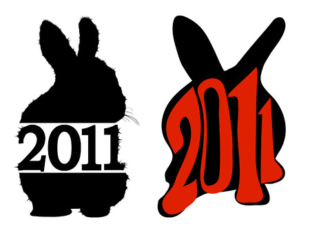 2011 rabbits symbols Illustration