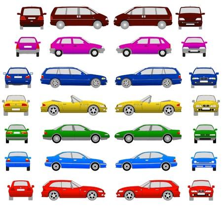 auto's Stock Illustratie