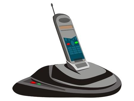 cordless phone Stock Vector - 8423786