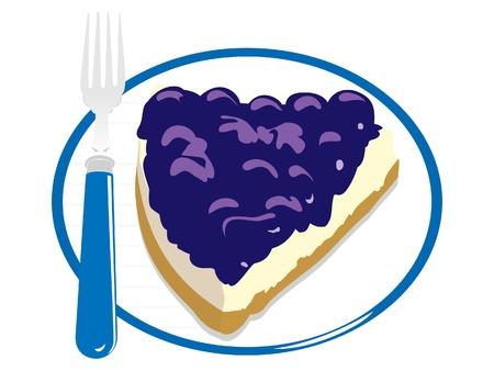 cheesecake: dessert Illustration