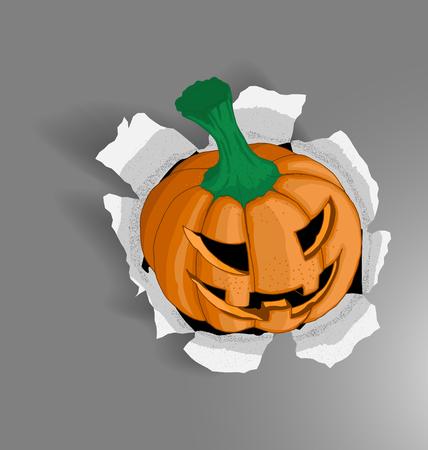Vector Illustration of Halloween Pumpkin