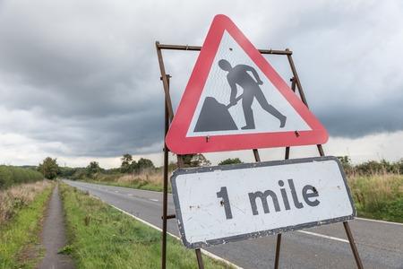 UK Motorway Services Road Sign.