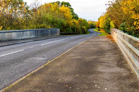 Autumn Background of UK Motorway Road