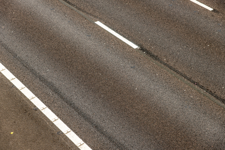road surface: Overhead View of motorway road surface