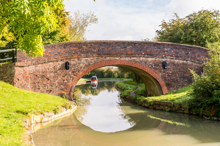 Morning view bridge over canal England United Kingdom