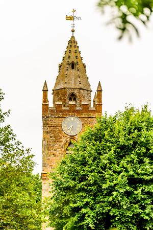 Low view of Milton Malsor Church Northampton UK