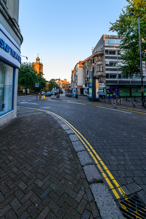 Northampton, UK - Aug 10, 2017: Clear Sky morning view of Northampton Town Centre Streets Stock Photo - 84693589