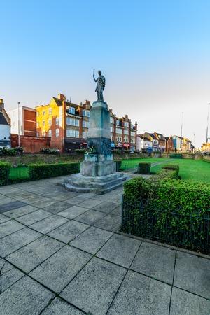 Northampton, UK - Aug 10, 2017: Clear Sky morning view of Mobbs Memorial Monument on Abinton Street Northampton Town Centre Stock Photo - 85302673