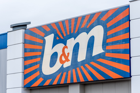 Northampton, UK - Oct 26, 2017: View of BM Logo in Nene Valley Retail Park.