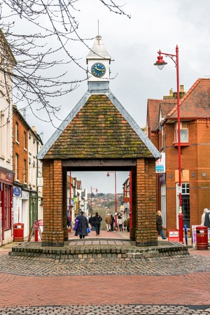 Daventry UK March 13 2018: Day view of Sheaf Street in Daventry town centre