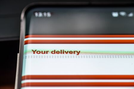 your delivery text on smart phone screen.