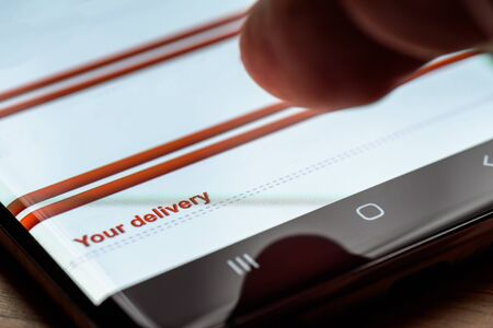 your delivery text on smart phone screen