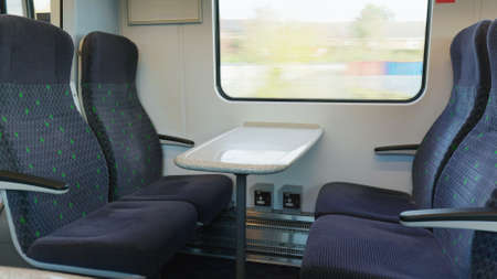 empty train car during covid-19 lockdown in england uk Stock Photo