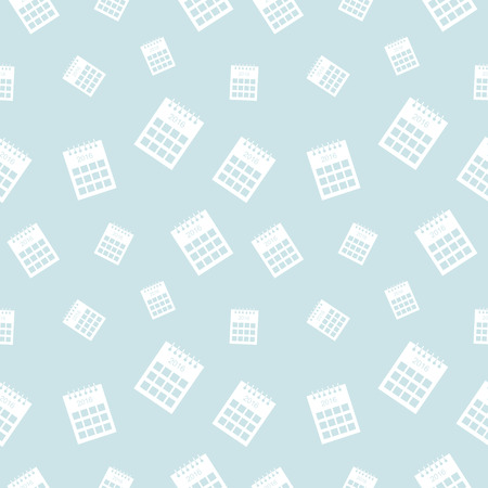 chaotic: Seamless vector pattern, light pastel shadeless chaotic background with calendars