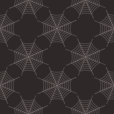 spider's web: Seamless abstract vector pattern, symmetrical dark  pastel background with spiders web.