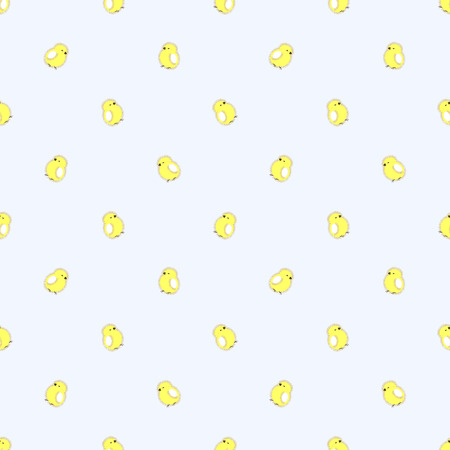 chiken: Seamless vector pattern with animals, cute background with little chiсkens, over light backdrop