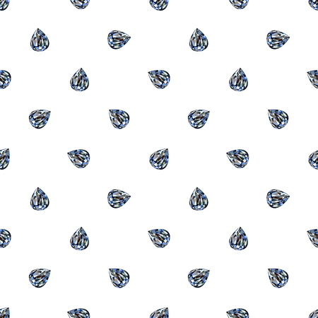 adamant: Seamless vector pattern, background with bright little gemstones in the shape of drops