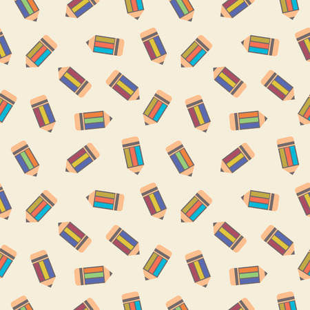 chaotic: Seamless vector pattern, chaotic light background with pencils Illustration