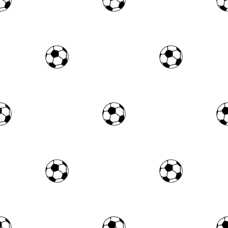 diversion: Seamless vector pattern, black and white background with elements of soccer balls