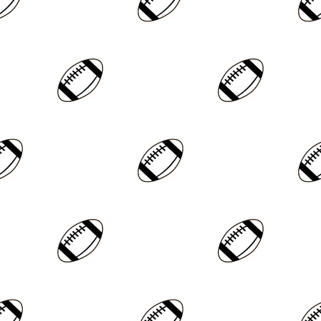repeat pattern: Seamless vector pattern, background with elements of balls for football over light background