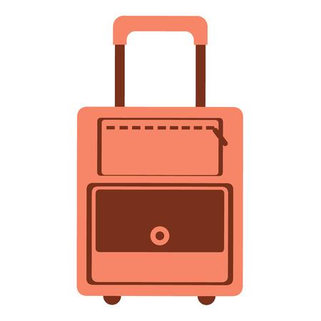 portmanteau: illustration of red travel bag, isolated on the white background