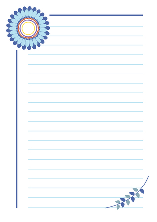 vector blank for letter or greeting card paper of notebook