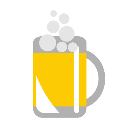 draughts: Vector illustration of glass with beer, isolated on the white background. Series of Food and Drink Object, Icons and Illustrations.