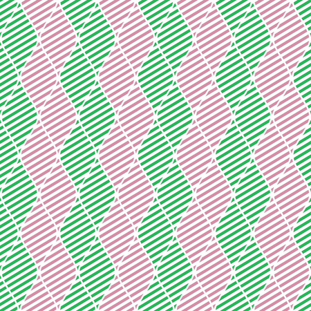 crankle: Seamless vector abstract pattern. Green and pink symmetrical geometric repeating background with decorative rhombus. Series of Geometric Seamless Patterns.