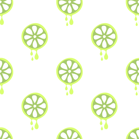 cartoom: Seamless vector pattern with fruits. Symmetrical background with limes on the white backdrop. Series of Fruits and Vegetables Seamless Patterns. Illustration