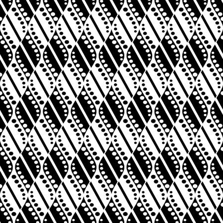 Patrón abstracto del vector inconsútil. Fondo de repetición simétrico geométrico en colores blancos y negros. Serie de patrones decorativos geométricos.