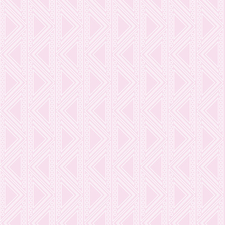 crankle: Seamless vector geometric pattern. Pink pastel background with triangles in the shape of zigzag. Series of Decorative and Ornamental Seamless Patterns. Illustration
