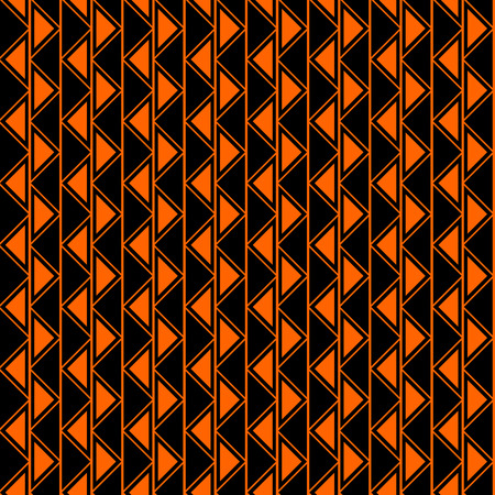 crankle: Seamless vector geometric pattern. Black and red background with triangles in the shape of zigzag. Series of Decorative and Ornamental Seamless Patterns. Illustration